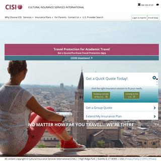 Worldwide Travel Insurance Plans - Cultural Insurance Services International (CISI)