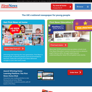 An award-winning weekly newspaper for children - First News