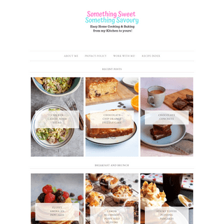 Something Sweet Something Savoury - Cooking, Home Baking & Family Friendly Easy Recipes!
