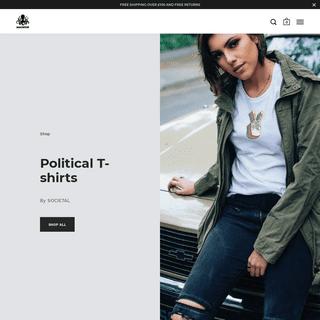 POLITICAL CLOTHING BY SOCIETAL - Progressive Liberal Activist T-shirts