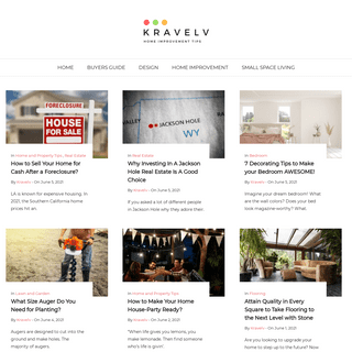 Kravelv - Small Space Living and Home Improvement Tips