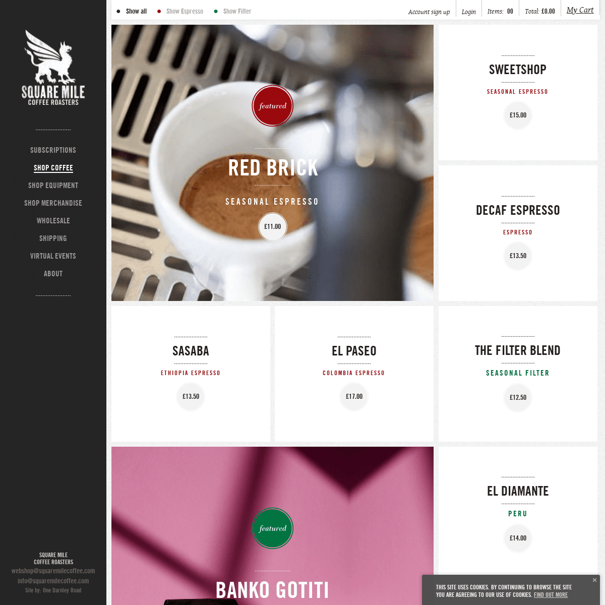 Home - Square Mile Coffee Roasters