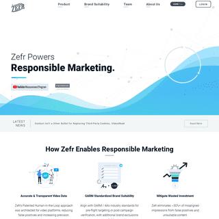 Zefr - Video Brand Suitability