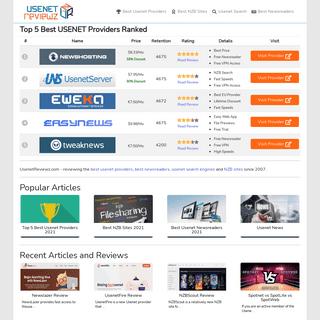 UsenetReviewz.com - Usenet Provider, NZB & Software Reviews