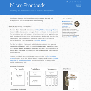MicroFrontends - extending the microservice idea to frontend development