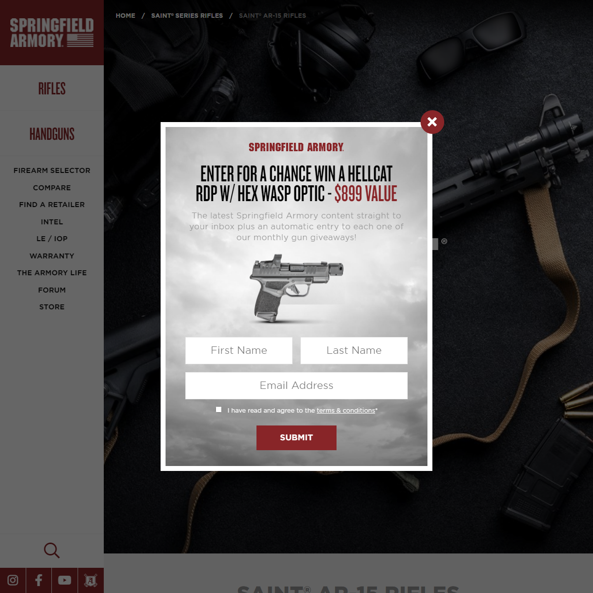 SAINT® AR-15 Rifles - Springfield Armory