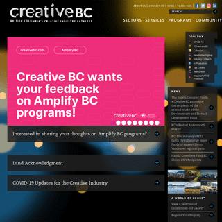 Creative BC - British Columbia`s Creative Industry Catalyst