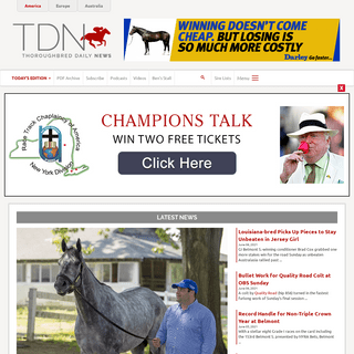 Home - TDN - Thoroughbred Daily News - Horse Racing News, Results and Video - Thoroughbred Breeding and Auctions - Thoroughbred