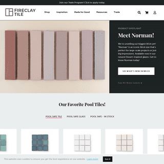 Fireclay Tile - Handmade in California - Homepage - Fireclay Tile