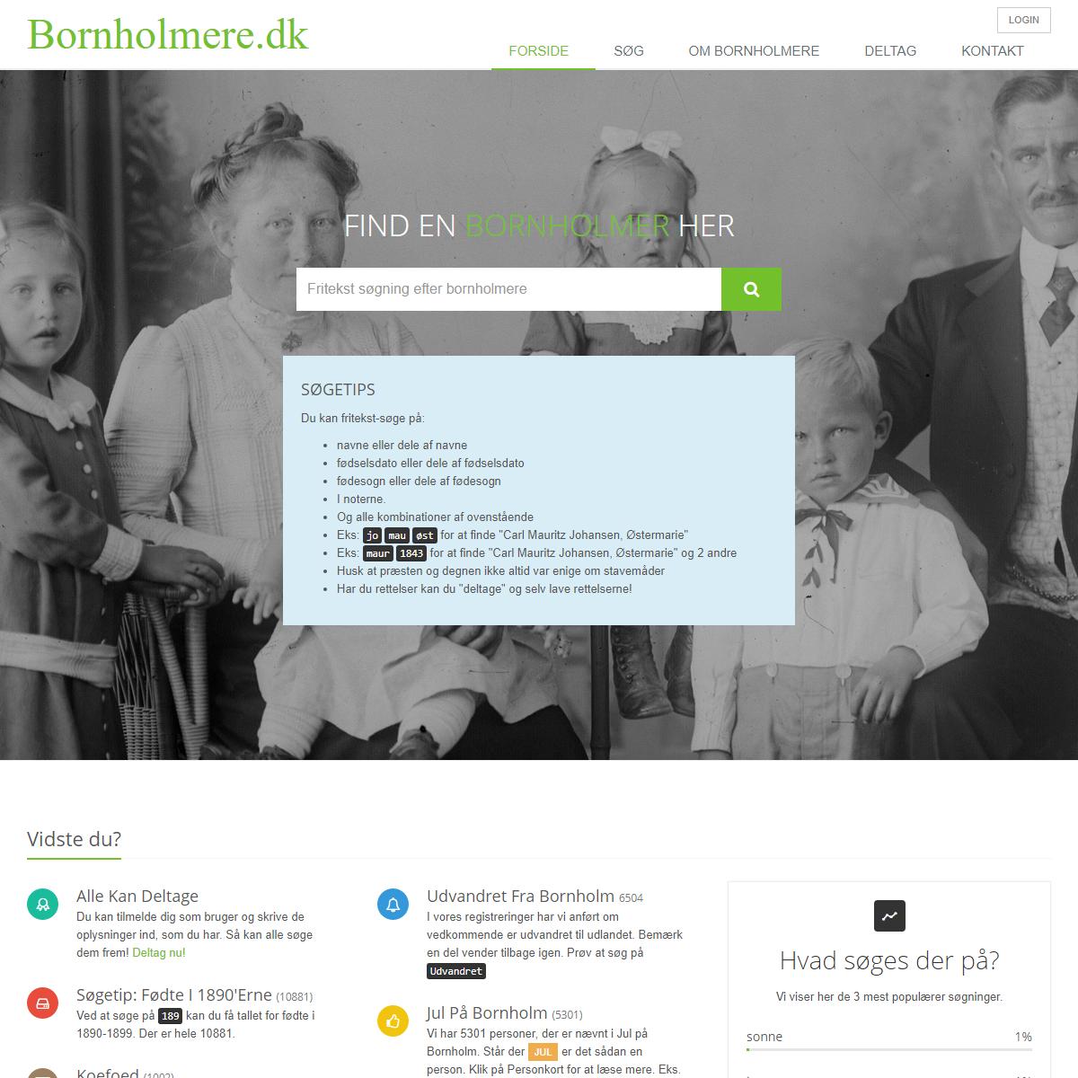 Bornholmere.dk - Find dine bornholmske rødder