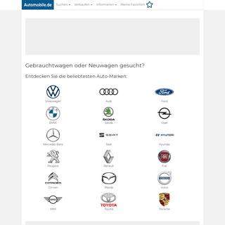 Gebrauchtwagen und Neuwagen günstig kaufen - Automobile.de