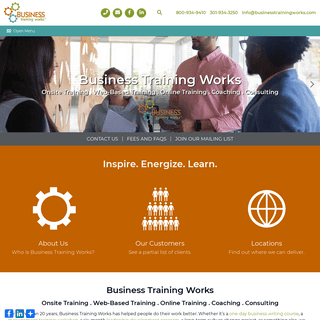 Business Training Works - Onsite and Online Training