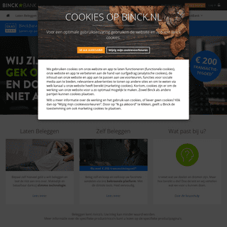 BinckBank - Gek op beleggen. - BinckBank Nederland