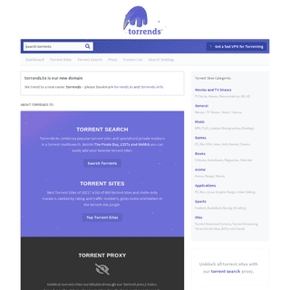Torrends – Torrent Search and Sites