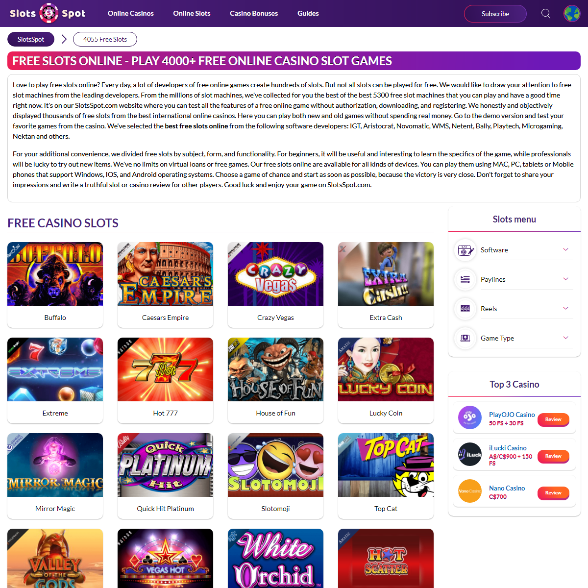 Free Slots Online - Play Free Casino Slot Machines