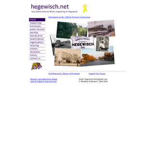 Welcome to Hegewisch.Net. your online kiosk to all things Hegewisch