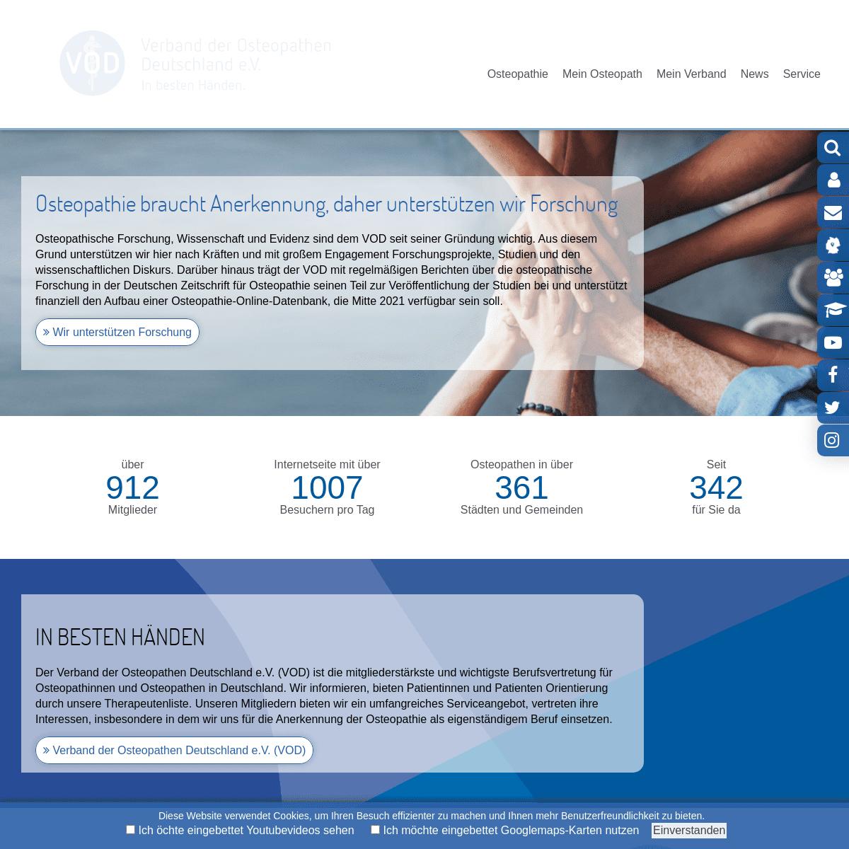 Willkommen - Verband der Osteopathen Deutschland e.V. (VOD e.V.)
