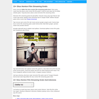 √ 13+ Situs Nonton Film Streaming Gratis - Tipandroid - Tipandroid