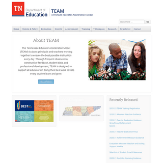 TEAM-TN - A Tennessee Department of Education Website