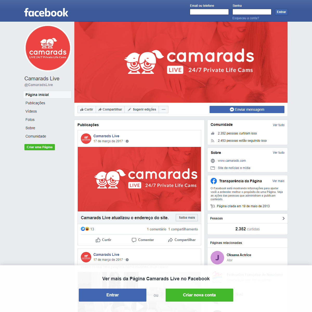 Camarads Live - Página inicial - Facebook