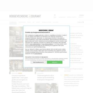 Voorpagina - Hoogeveensche Courant